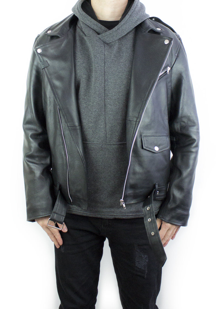 Road Warrior Leather Biker Jacket3