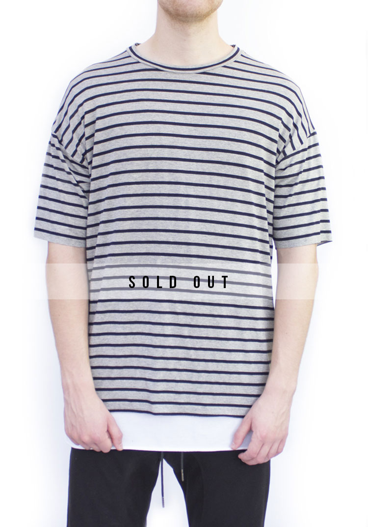 Grey Band Relaxed fit T-shirt