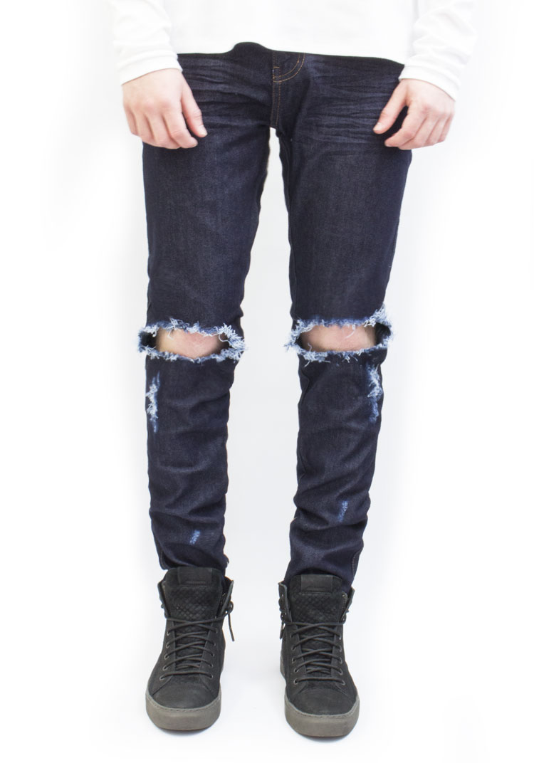 Essential Denim Raw Wash Distressed