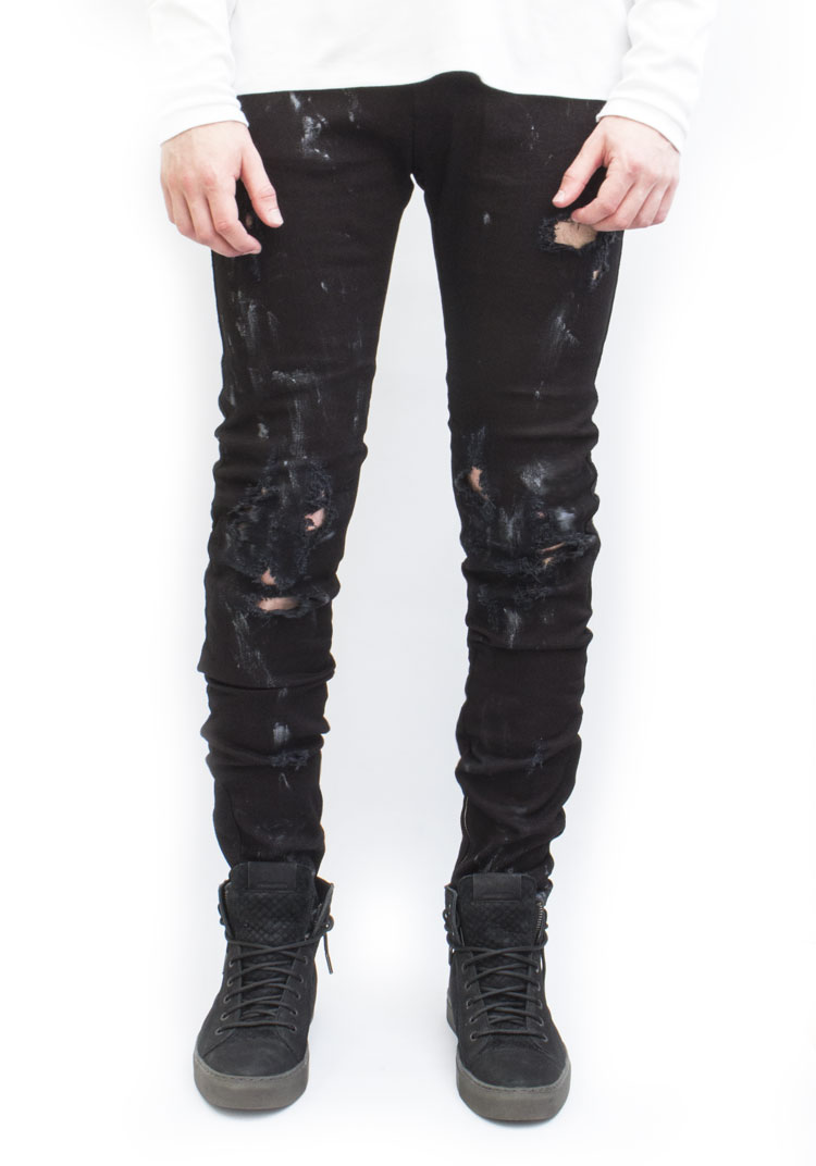 Essenial Denim Workshop Black Distressed