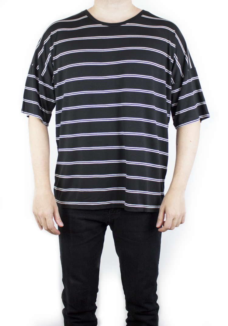 NIGHT LINE STRIPE T-SHIRT