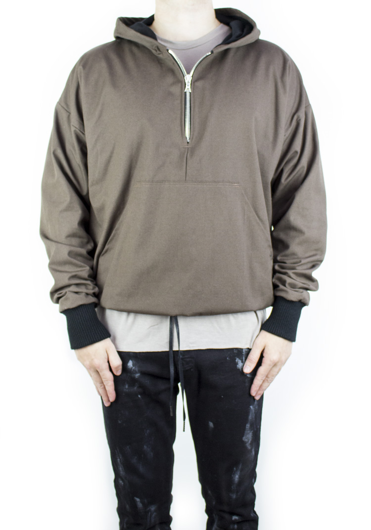 HEAVY DUTY HOODED JACKET ESPRESSO