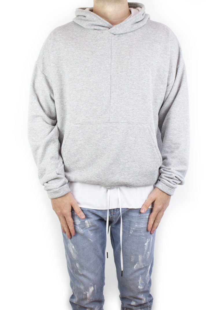FURY HOODY HEATHER GREY