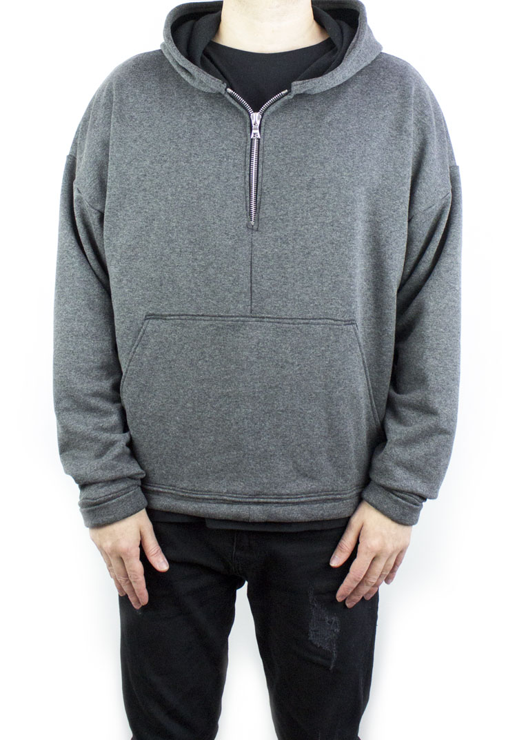 FURY ZIP HOODY CHARCOAL