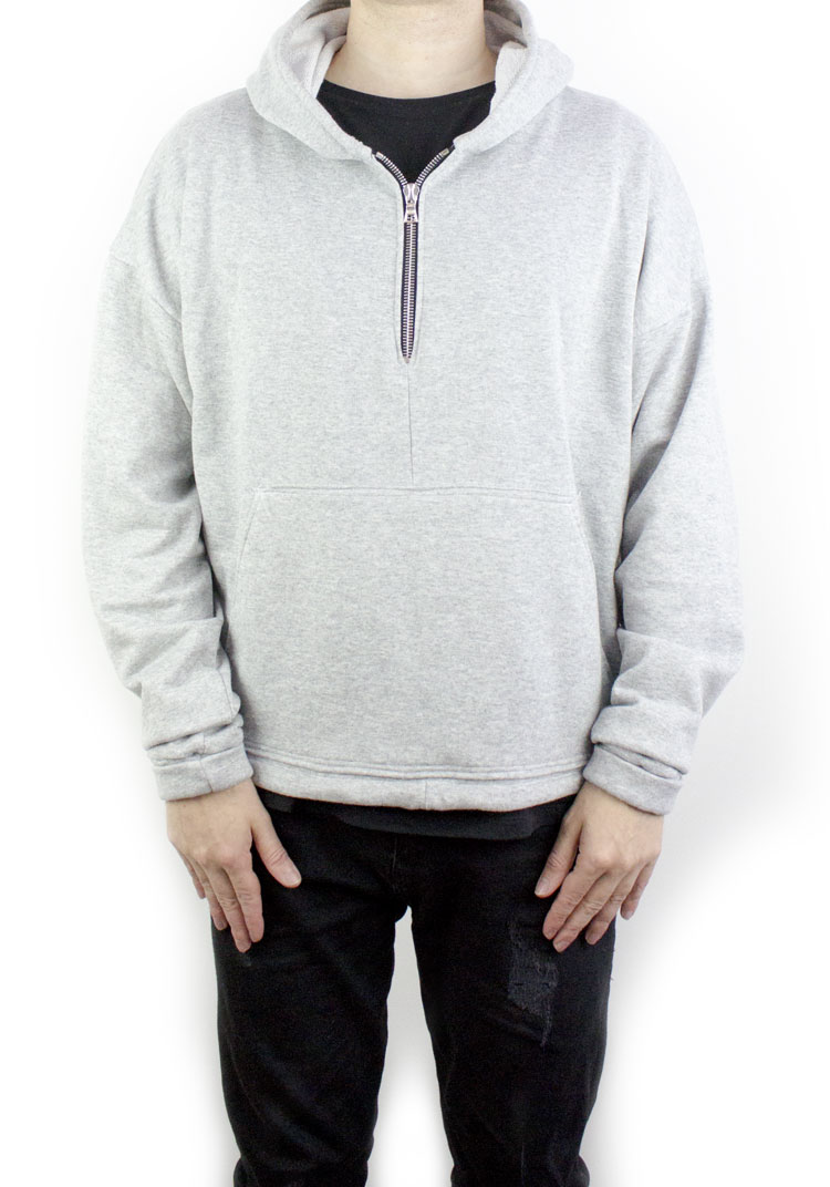 FURY ZIP HOODY HEATHER GREY