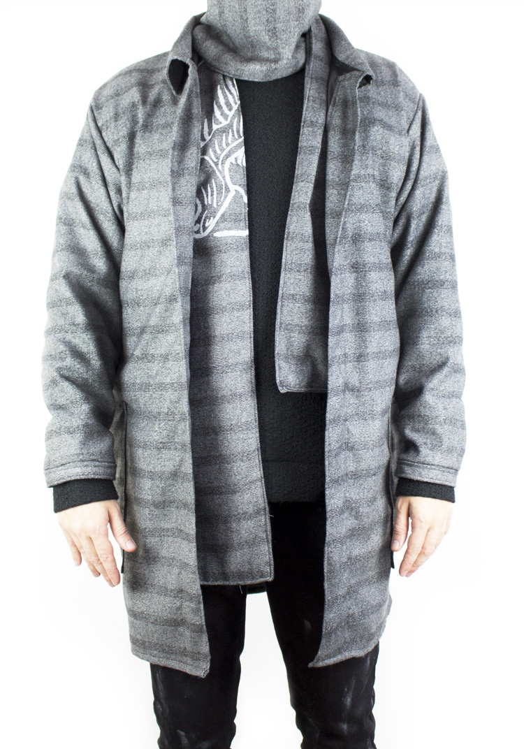 FURY OVERCOAT CHECK GREY